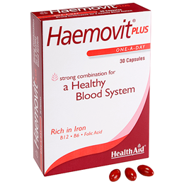 HealthAid Haemovit Plus - Healthy Blood System - Iron - 30 Capsules