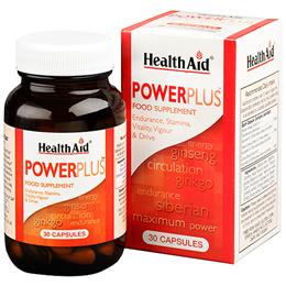 HealthAid Power Plus - Ginseng and Ginkgo Complex - 30 Capsules