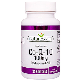 Natures Aid CO-Q-10 (Co Enzyme Q10) - 30 x 100mg Softgels