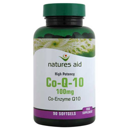 Natures Aid CO-Q-10 (Co Enzyme Q10) - 90 x 100mg Softgels