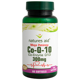 Natures Aid Co-Q-10 (Co Enzyme Q10) - 60 x 300mg Softgels