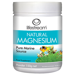 Lifestream Natural Magnesium - Pure Marine Source - 150g Powder