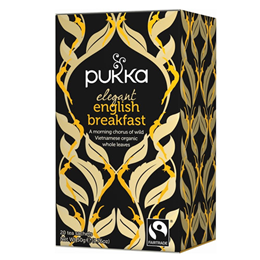 Pukka Teas Organic Elegant English Breakfast Tea - 20 Teabags x 4 Pack