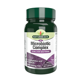 Natures Aid Probiotic Complex (with Bifidus and FOS) - 60 Capsules
