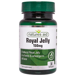 Natures Aid Royal Jelly - Acacia Honey Base - 30 x 150mg Softgels