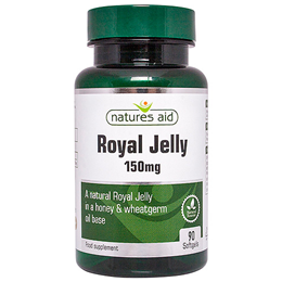 Natures Aid Royal Jelly - Acacia Honey Base - 90 x 150mg Softgels