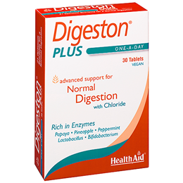 HealthAid Digeston Plus - Digestion - Chloride - 30 Vegan Tablets