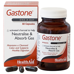 HealthAid Gastone - Neutralise and Absorbs Gas - 60 Capsules