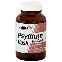 HealthAid Psyllium Husk - High Fibre - 60 x 1000mg Vegicaps