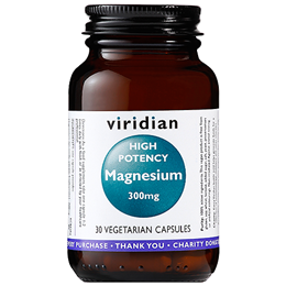 Viridian High Potency Magnesium - 30 x 300mg Vegicaps
