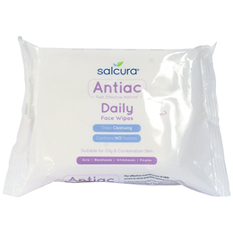 Salcura Antiac - Daily Face Wipes - Deep Cleansing - 25 Wipes