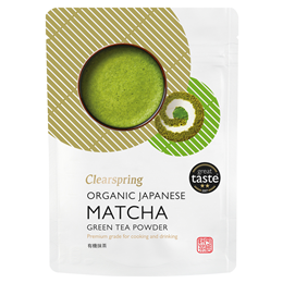 Clearspring Japanese Organic Matcha Green Tea - Premium - 40g Powder