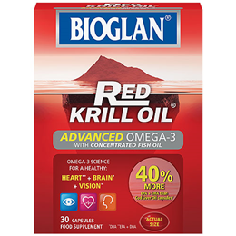 Bioglan Red Krill Oil - Advanced Omega-3 - Fish Oil - 30 Capsules