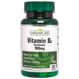 Natures Aid Vitamin B6 - Pyridoxine  - 100 x 100mg Tablets