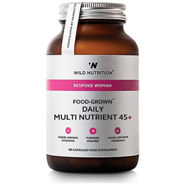 Wild Nutrition Food-Grown Daily Multi-Nutrient 45+ -Women- 60 Capsules