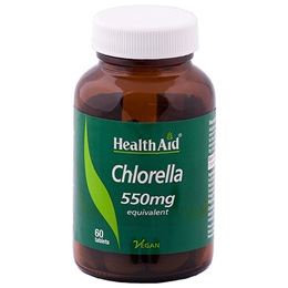 HealthAid Chlorella 550mg Powder Equivalent - 60 Vegan Tablets