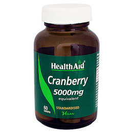 HealthAid Cranberry 5000mg Equivalent - 60 Vegan Tablets