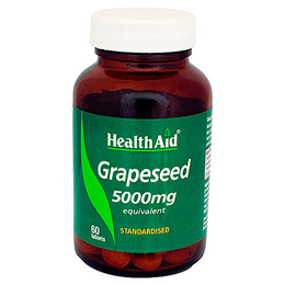 HealthAid Grapeseed 5000mg Equivalent - 60 Vegetarian Tablets