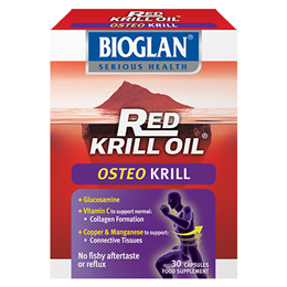 Bioglan Red Krill Oil - Osteo Krill - 30 Capsules  - Best before date is 30th November 2016