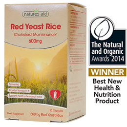 Natures Aid Red Yeast Rice - 90 x 600mg Vegicaps