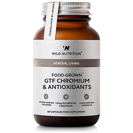 Wild Nutrition Food-Grown GTF Chromium & Antioxidants - 60 Vegicaps