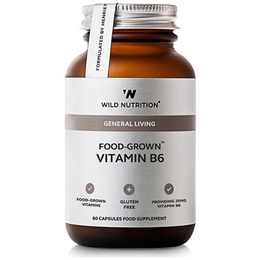 Wild Nutrition Food-Grown Vitamin B6 - 60 Tablets