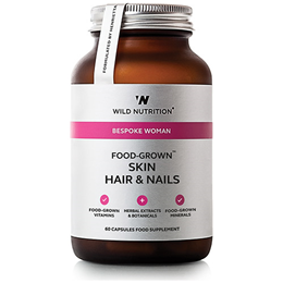 Wild Nutrition Food-Grown Skin Hair & Nails - 60 Capsules