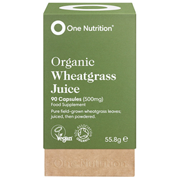 One Nutrition Organic Wheatgrass - 90 x 500mg Capsules