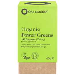 One Nutrition Organic Power Greens - 100 Capsules - Best before date is 30th June 2019