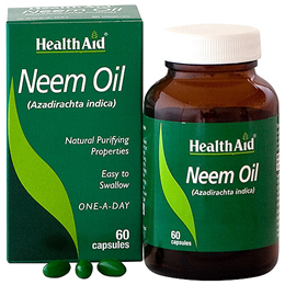 HealthAid Neem Oil - Natural Purifying Properties - 60 Capsules