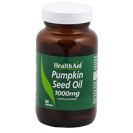 HealthAid Pumpkin Seed Oil - Cold Pressed - 60 x 1000mg Capsules