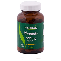 HealthAid Rhodiola 500mg Equivalent - 60 Vegan Tablets