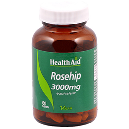 HealthAid Rosehip 3000mg Equivalent - Vitamin C - 60 Vegan Tablets