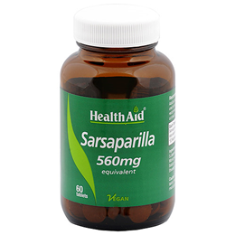 HealthAid Sarsaparilla 560mg Equivalent - 60 Vegan Tablets