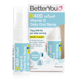 BetterYou DLux Infant - Daily Vitamin D Oral Spray - 300iu - 15ml