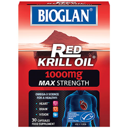Bioglan Red Krill Oil - Max Strength - 30 x 1000mg Capsules