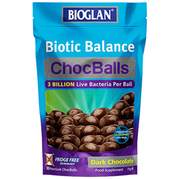 Bioglan Biotic Balance ChocBalls - Dark Chocolate - 30 ChocBalls