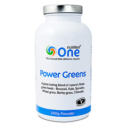 One Nutrition Power Greens - 200g Powder - Best before date is 30th June 2019