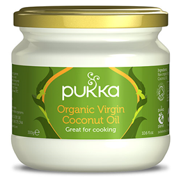 Pukka Organic Virgin Coconut Oil - Great for Cooking - 300g