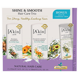 A kin Hair Care Trio Shine & Smooth - For Shiny Healthy Looking Hair