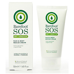 Barefoot SOS Dry & Sensitive - Face & Body Rescue Cream - 50ml