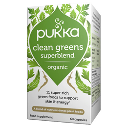 Pukka Organic Clean Greens - 11 Green Foods - 60 Vegicaps