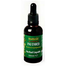 HealthAid High Potency Pau D`Arco - Herbal Liquid - 50ml