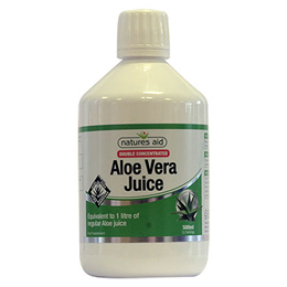 Natures Aid Double Concentrated Aloe Vera Juice - 500ml