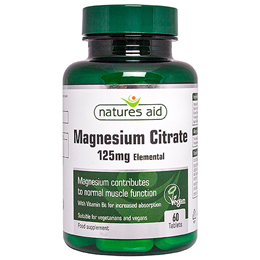 Natures Aid Magnesium Citrate with Vitamin B6 - 60 Tablets