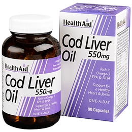 HealthAid Cod Liver Oil 90 x 550mg Capsules