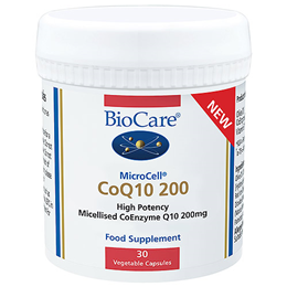BioCare Microcell CoQ10 200 - 30 x 200mg Vegicaps