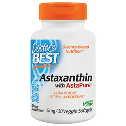 Doctors Best Astaxanthin with AstaPure - 30 x 6mg Softgels