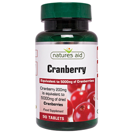Natures Aid Cranberry - 90 x 200mg Tablets