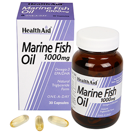 HealthAid Marine Fish Oil - 1000mg x 30 Capsules - Best before date is 31st July 2018